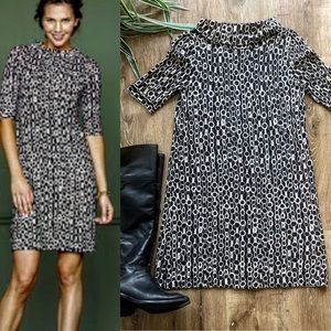 J CREW CHAIN PRINT MERINO SWEATER DRESS